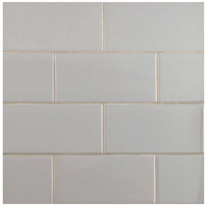 Enhance The Function And Style To Your Kitchen Dining Or Living Room By Adding This Merola Tile Park Slope Subway Glossy Warm Grey Ceramic Wall