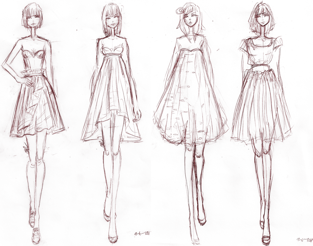 Clothing Sketches Design