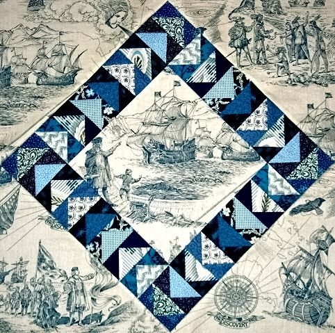 quilts with directional fabric   Tip: Look for hard to use fabrics ... : quilt patterns for big prints - Adamdwight.com