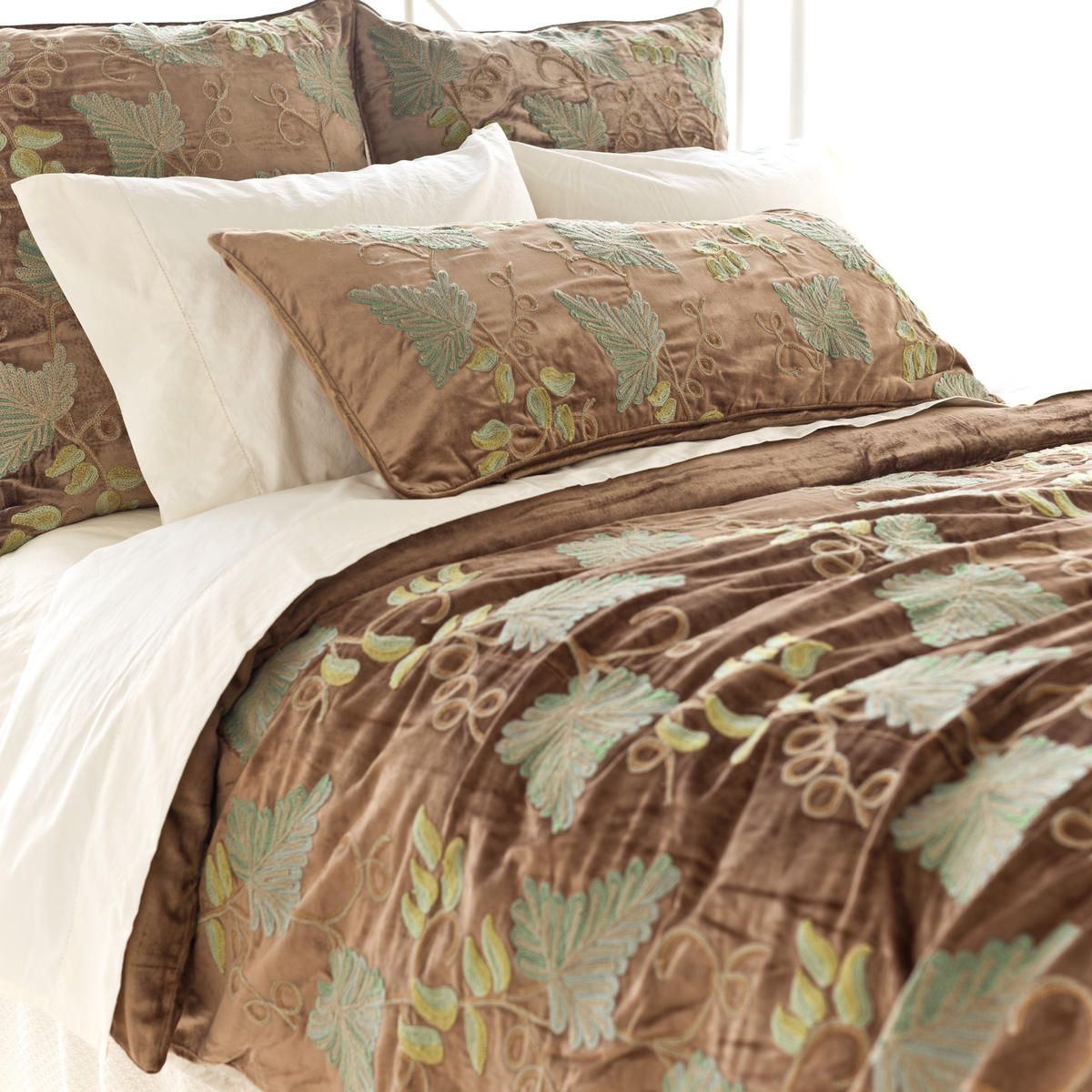 Pine Cone Hill Grapevine Crewel Duvet Cover An Indian