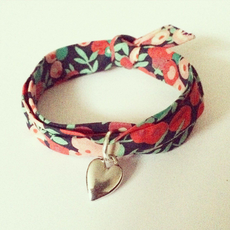 Fabric bracelet Liberty of London, fabric wrap bracelet by ... - photo#1