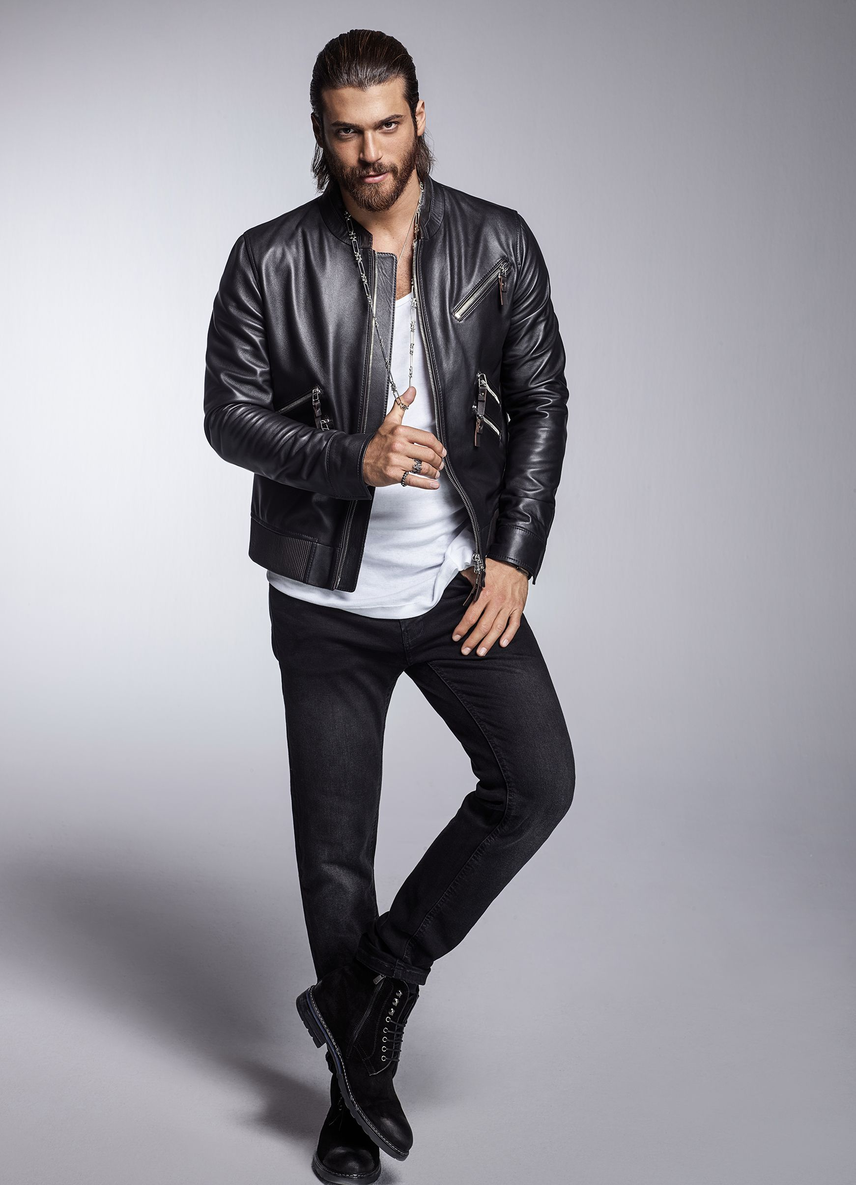 Pin By Haya Butterfly On Can Yaman Stylish Men Casual Leather Jacket Turkish Men [ 2409 x 1742 Pixel ]