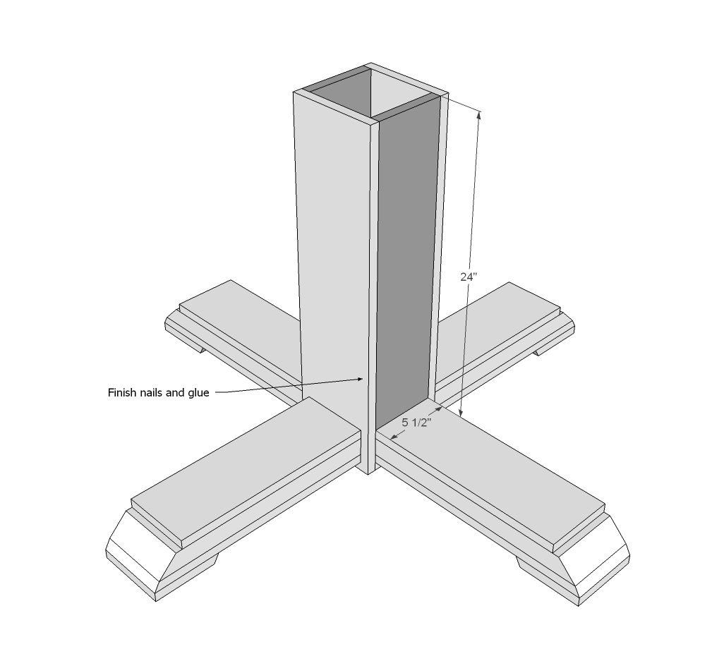 Benchmark pedestal base octagon table octagon table