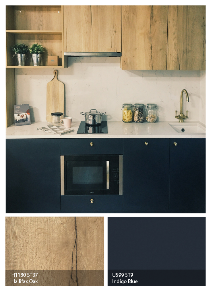 kitchen counter covers commercial shelving pin by egger on kitchens | pinterest indigo blue ...