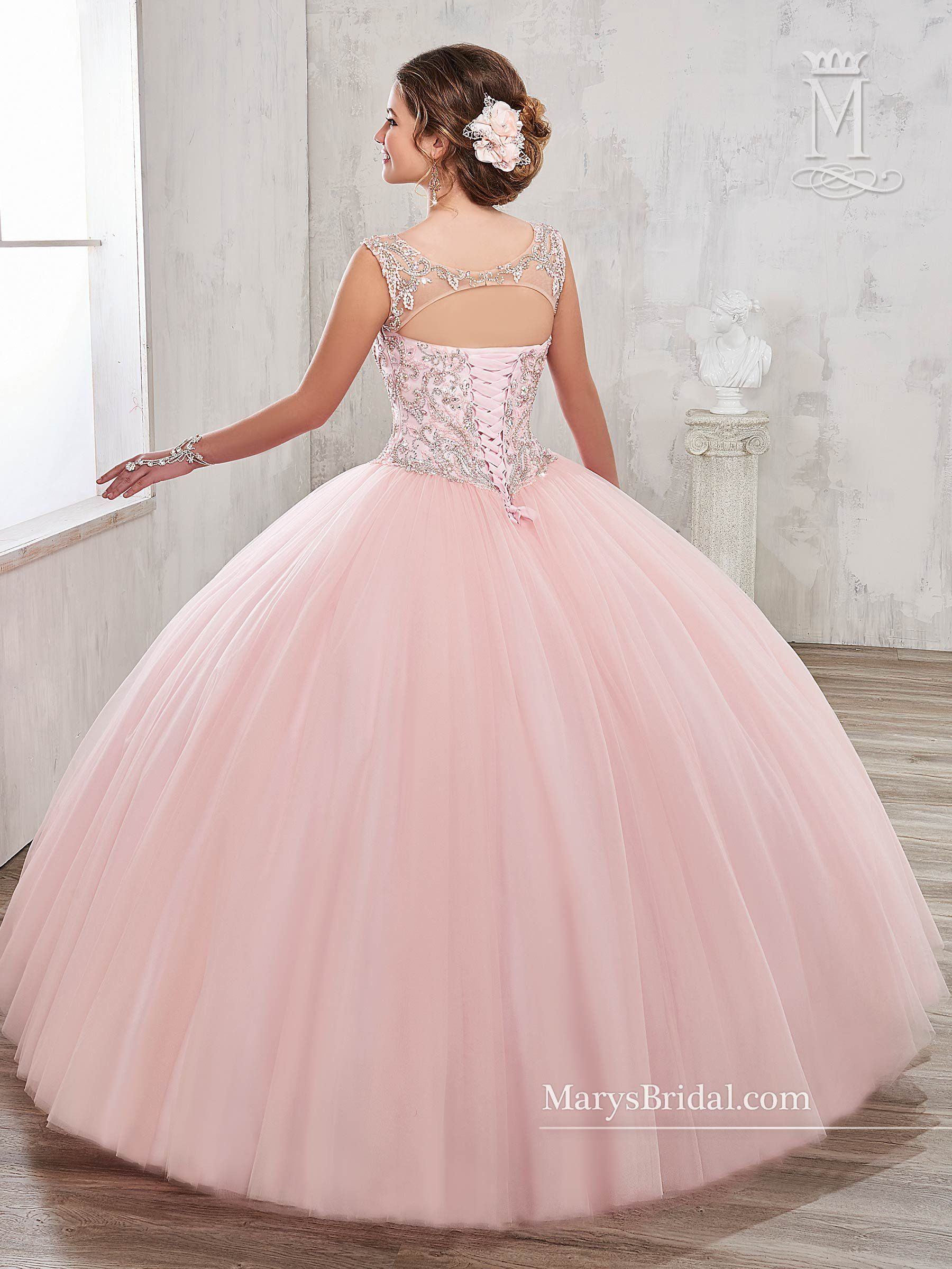 Illusion A Line Quinceanera Dress By Marys Bridal Beloving