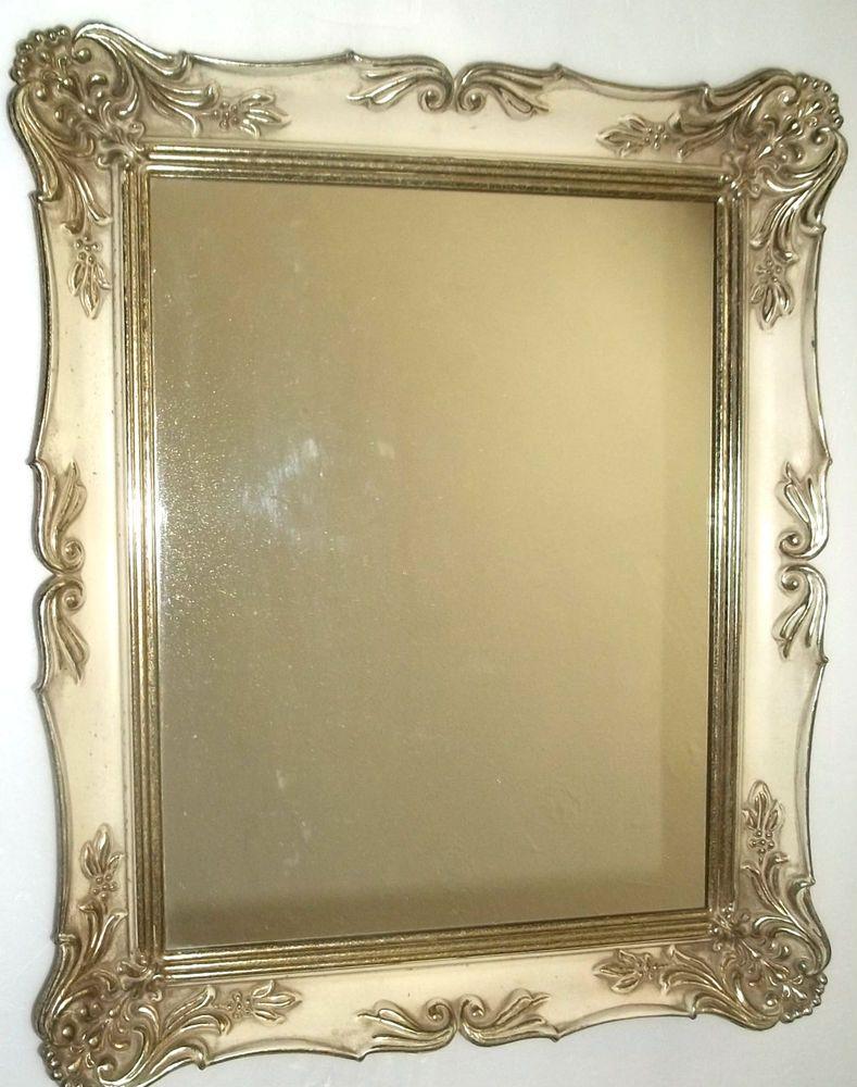 VINTAGEmirror/ornate metal frame NICE SIZE 14\