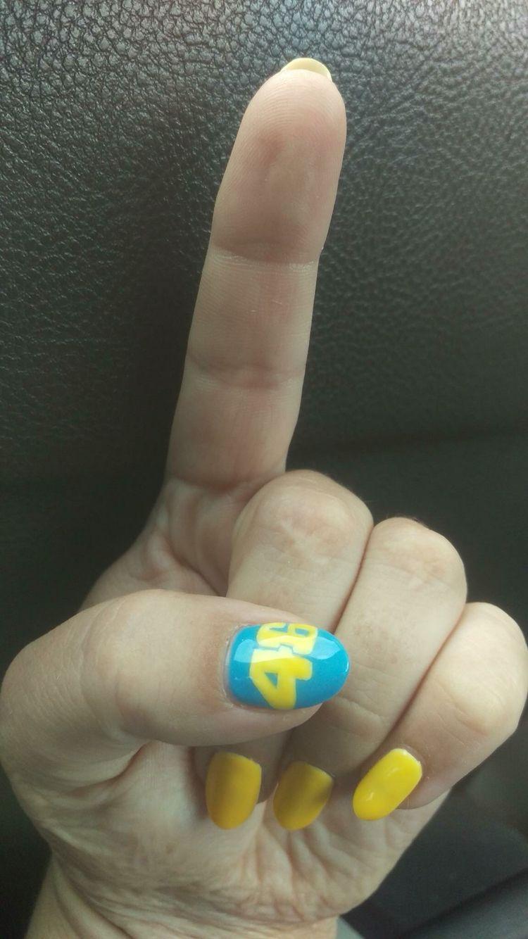 Valentino Rossi nails | Nails | Pinterest