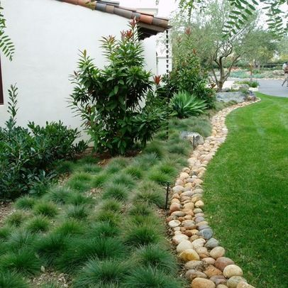 Rocks And Grass Landscaping