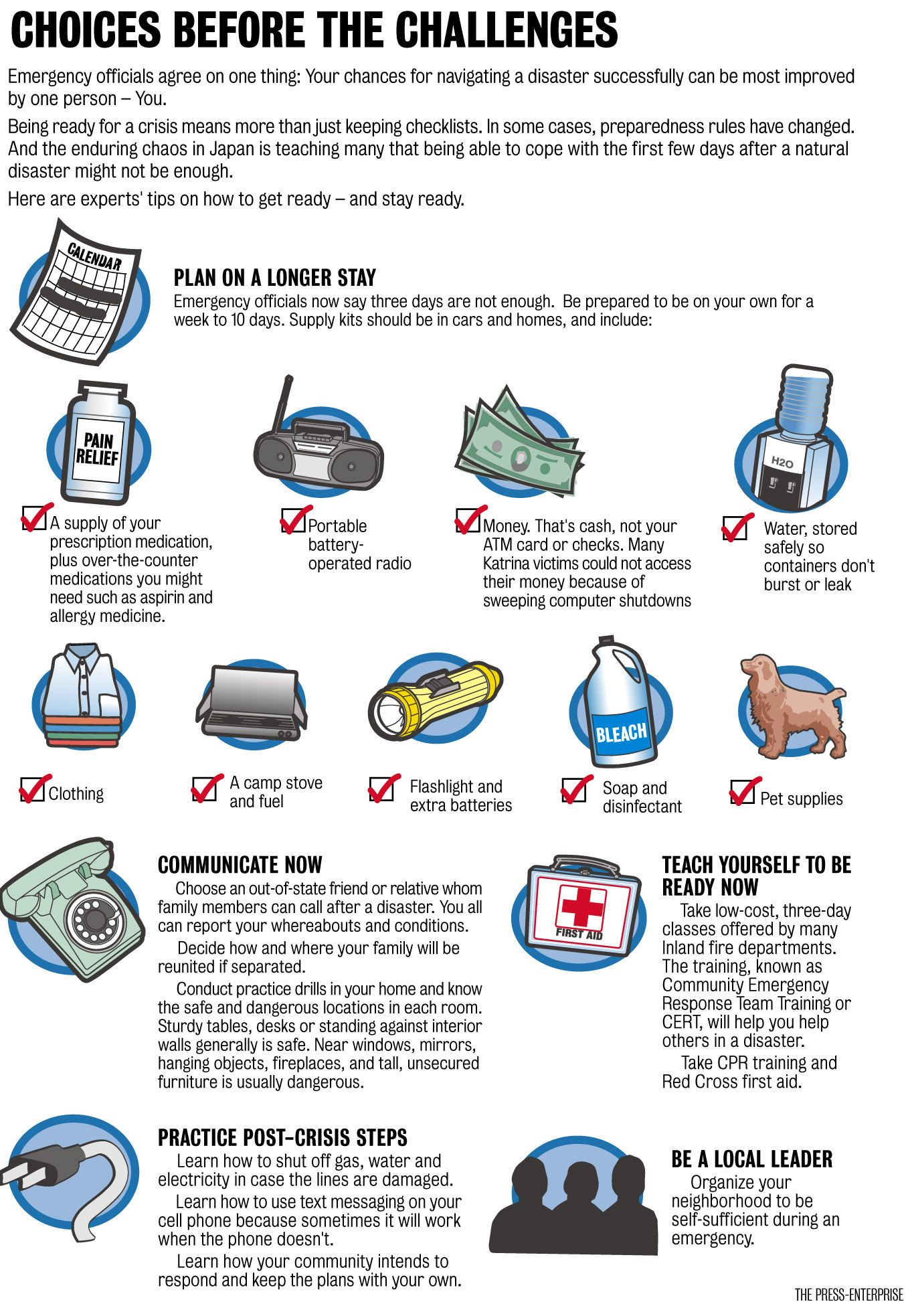 A Handy Checklist For Earthquake Preparedness Preparedness Emergency Survival