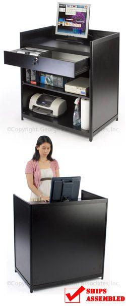 36 Quot Cash Register Stand W Locking Drawer Adjustable Shelf