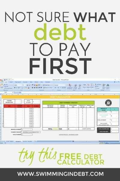 Paying Off The Debt - PART 5 Pinterest Calculator, Debt and - debt calculator spreadsheet