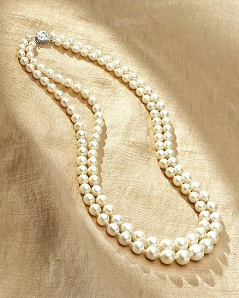 rare double strand natural pearl necklace with 3 carat. Black Bedroom Furniture Sets. Home Design Ideas