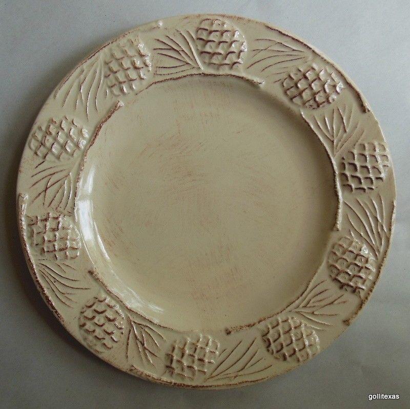 "Home Holiday Pine Sald / Dessert Plate 8"" Retired"