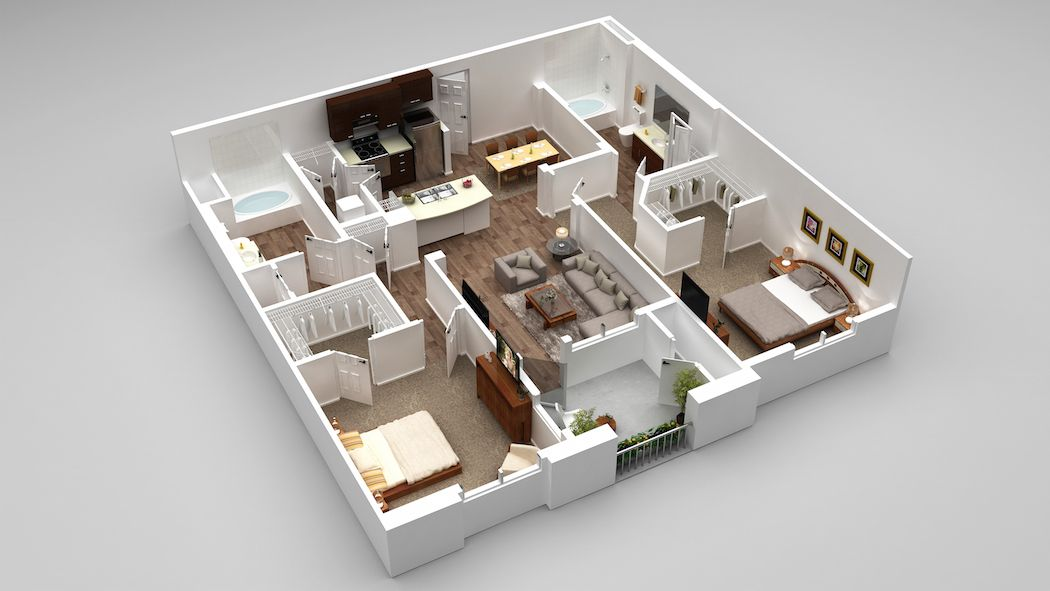 Our B3 Floorplan 1017 1162 Square Feet Torrance Resort Style Pool Luxury Apartments