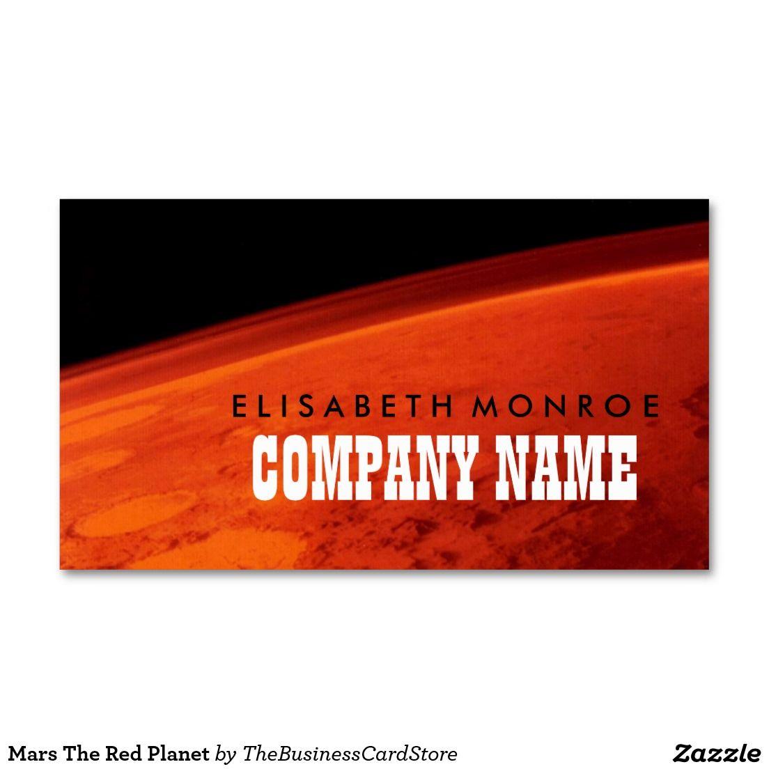 Cartes De Visite Astronomie Mars The Red Planet Business Card