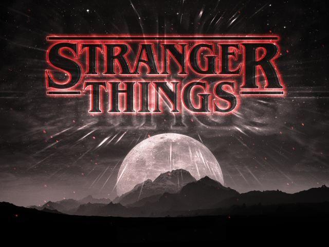 Stranger Things Dark Logo Stranger things wallpaper