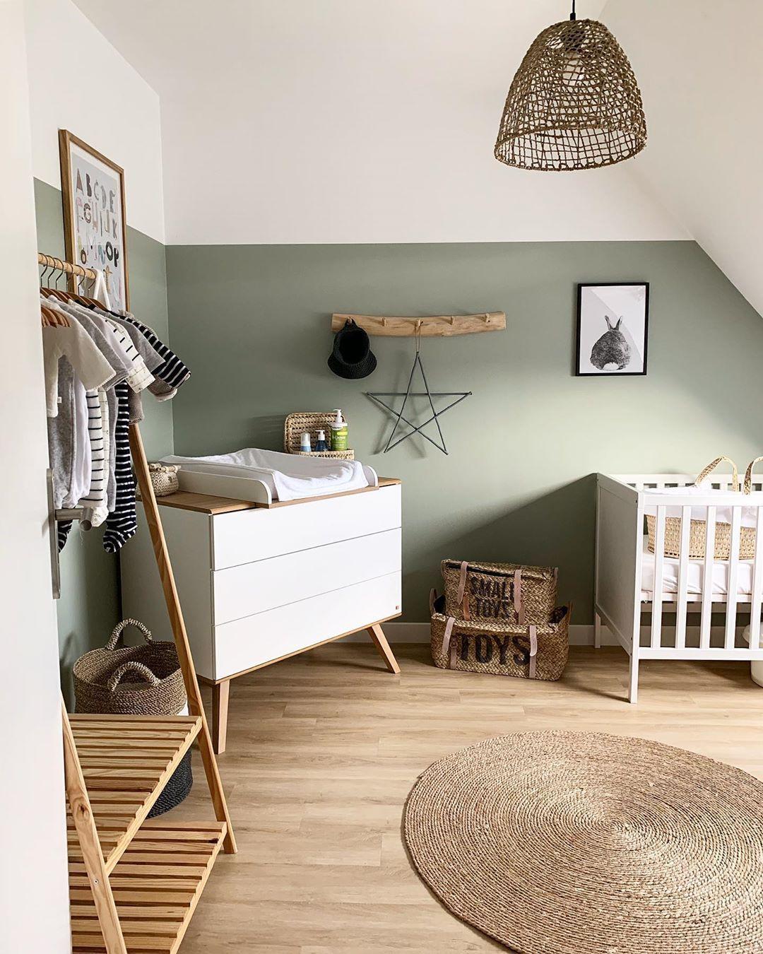 Photo of Chambre de bébé vert saule #sweetcars