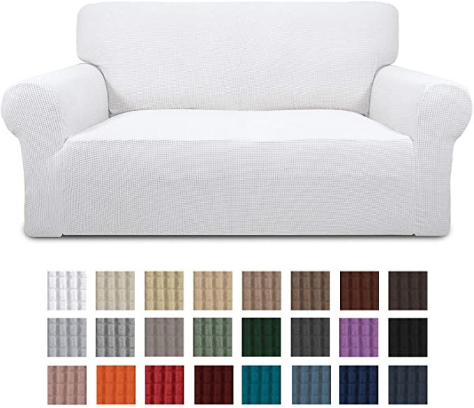 Amazon Com Easy Going Stretch Loveseat Slipcover 1 Piece Couch Sofa Cover Furniture Protector Soft With El In 2020 Loveseat Slipcovers Furniture Protectors Slipcovers