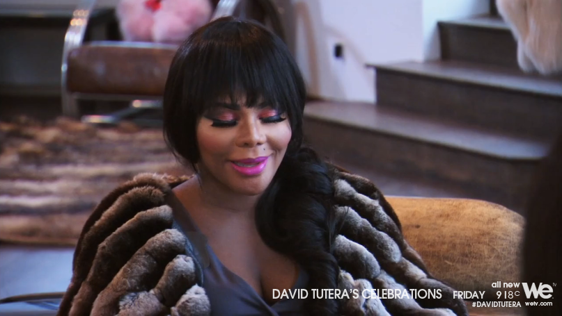Before Lil'Kim leaves, David has a sit down with her about being on-time to her own party. She says she will. He says be there at 8:00. She says she will by 9:00... Read more and join in at: http://www.allaboutthetea.com/2014/08/16/david-tuteras-celebrations-recap-lilkim-baby-shower-episode-3/