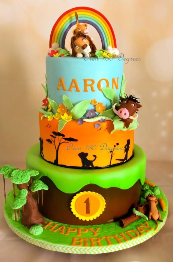Awe Inspiring Lion King Theme Cake Cake By Oven 180 Degrees With Images Funny Birthday Cards Online Necthendildamsfinfo