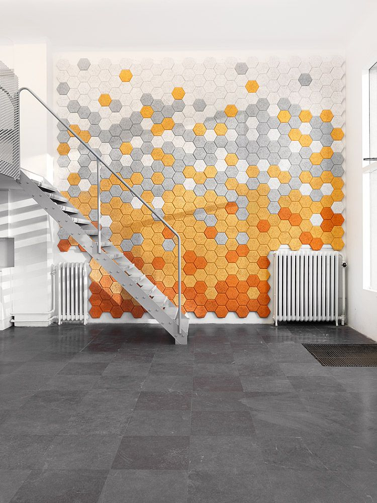 wanddecoratie - baux.se hexagon tile acoustic