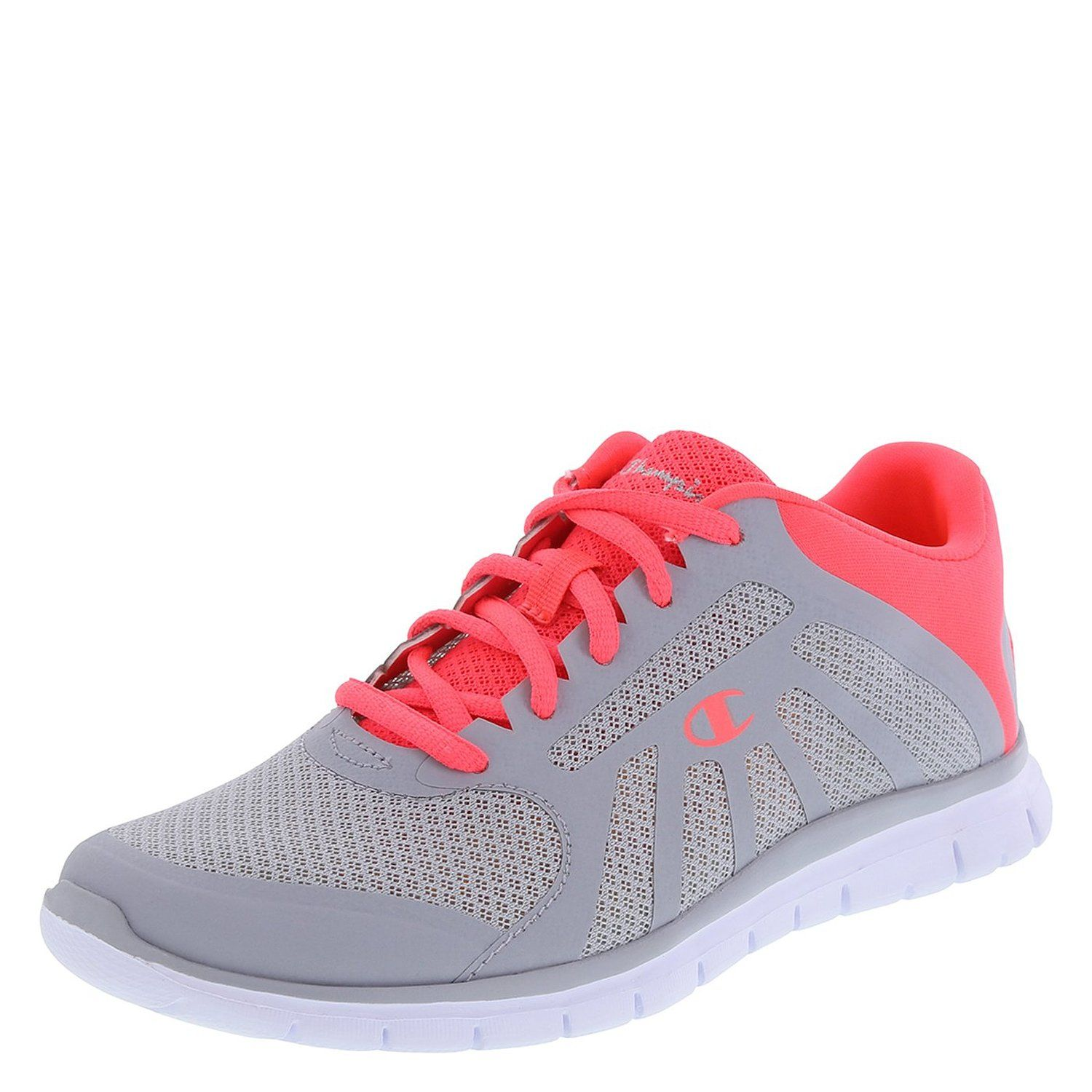 nice Champion Women's Gray/Coral Gusto Runner 8 M US
