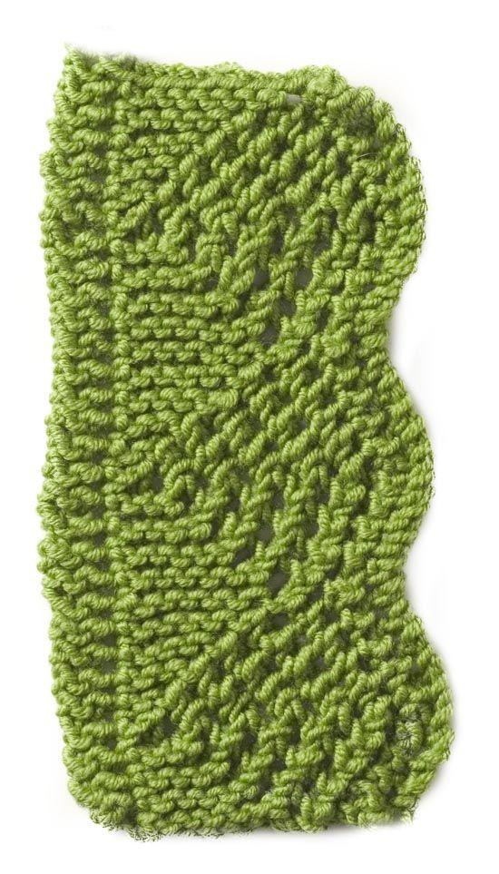 Stitchfinder Knitting Pattern Scalloped Eyelet Edging Lion