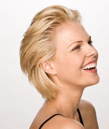 6 Sexy Short Hairstyles - I think I could do this....