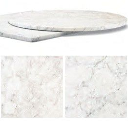 Italian White Carrara Marble Table Tops   Marble Tables For Sale. Buy  Restaurant U0026 Hotel Furniture In The UK   Round Edge. Available With Table  Bases To ...