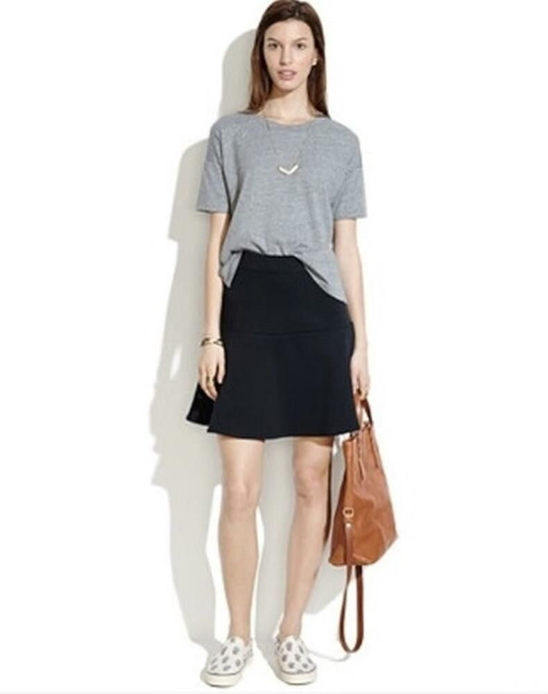 a8b3f6b547 MADEWELL J. Crew Black Crepe Knit WAVELENGTH SKIRT Fit & Flare Fluted Mini 0  XS #fashion #clothing #shoes #accessories #womensclothing #skirts (ebay  link)