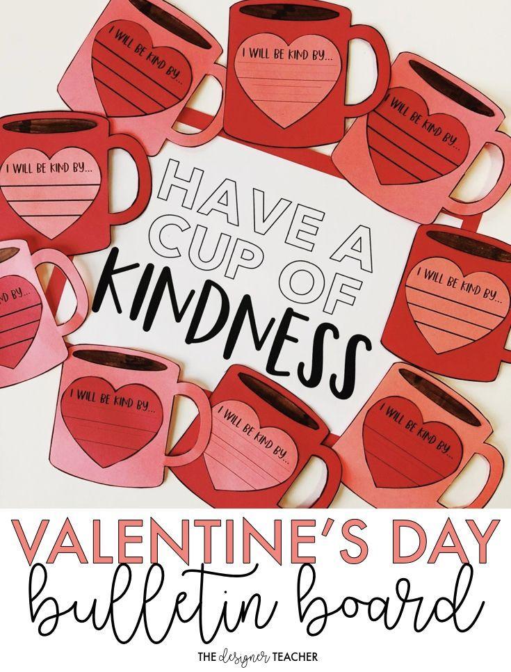 Valentine's Day Bulletin Board | Kindness Craft #valentinesdaybulletinboardideas