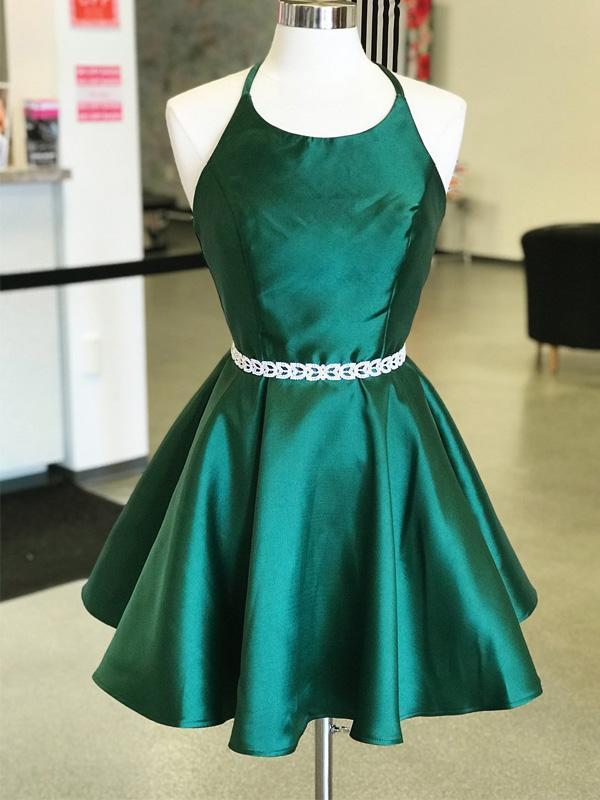 792ee9320d828 Sexy Emerald Green Backless Simple Short Cheap Homecoming Dresses Under  100, CM575
