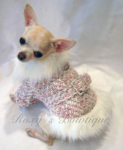 Glamour Girl Faux Fur Trimmed Dog Coat Ropa Para Perros