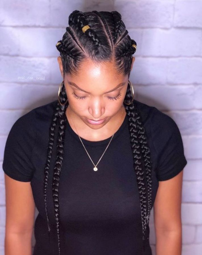 60 Inspiring Examples of Goddess Braids #longboxbraids
