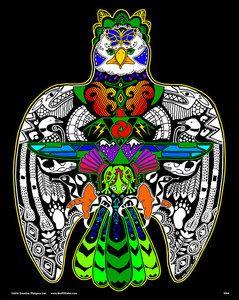 Thunderbird - 16x20 Fuzzy Velvet Coloring Poster Inner Nature ...