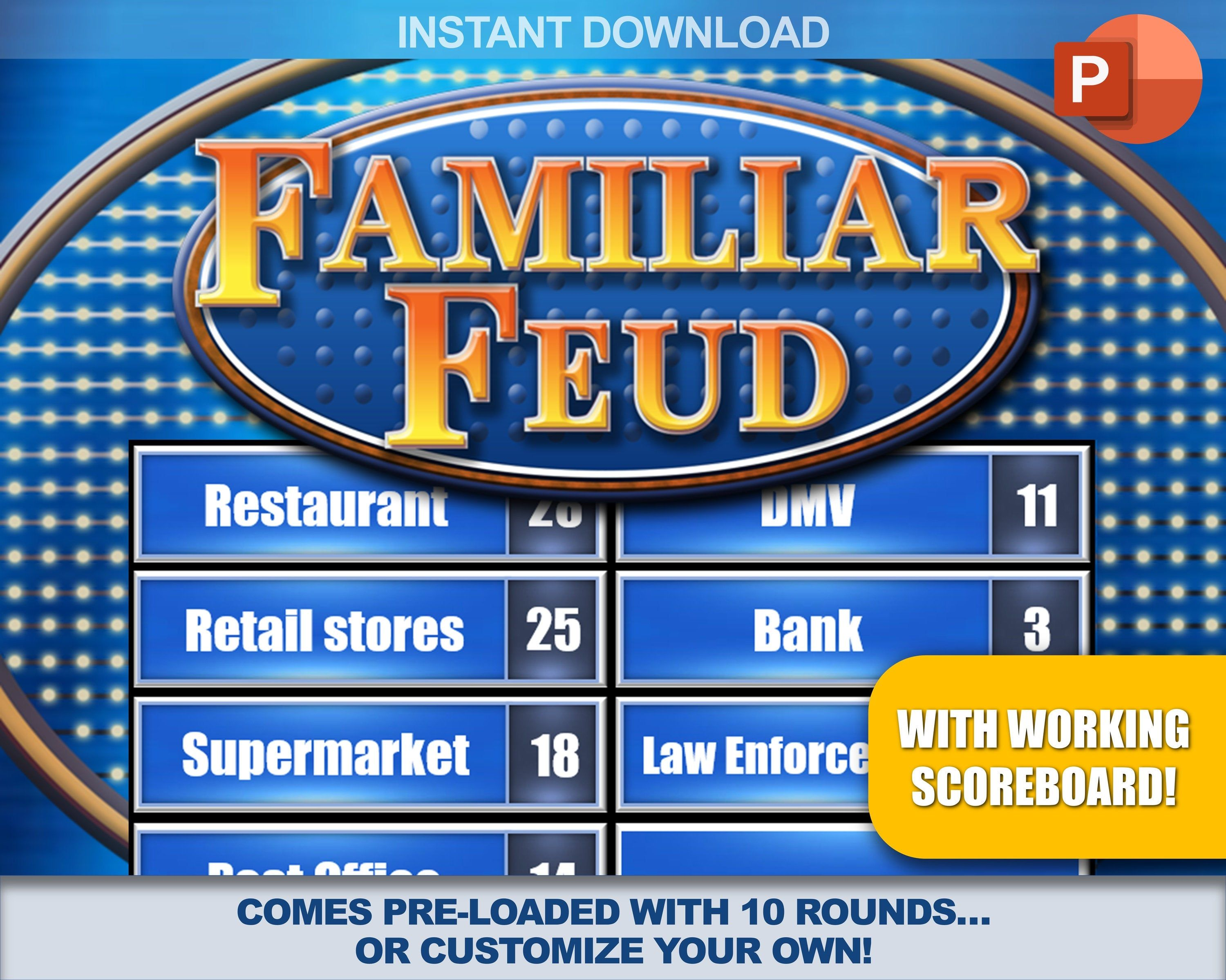 Idea By Sophie Harrison On Family Feud Diy Family Feud Game