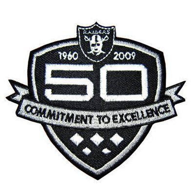 941be7da4 2009 Oakland Raiders 50th Anniversary AFL NFL Jersey Patch for only $7.99