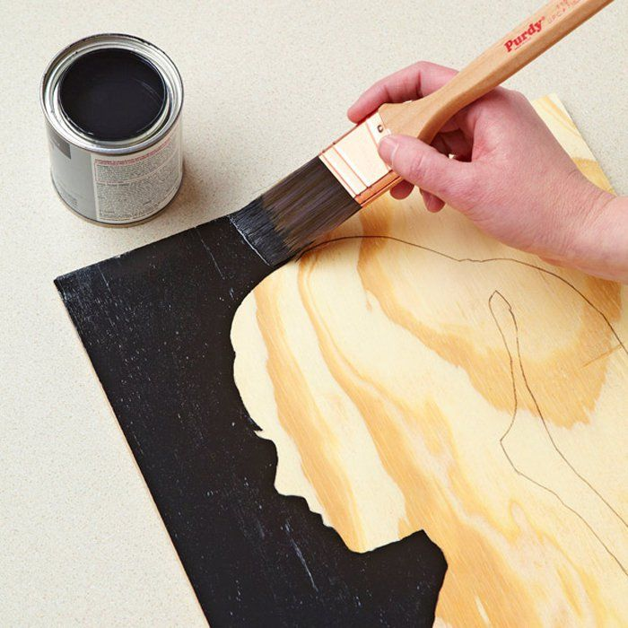 Make It for Mom: Easy Wood Grain Silhouette Portrait | Silhouettes ...
