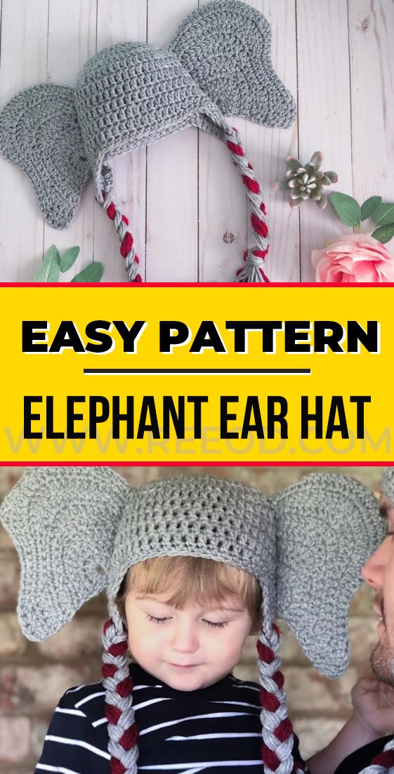 crochet Elephant Ear Hat pattern - easy crochet Hat free ...