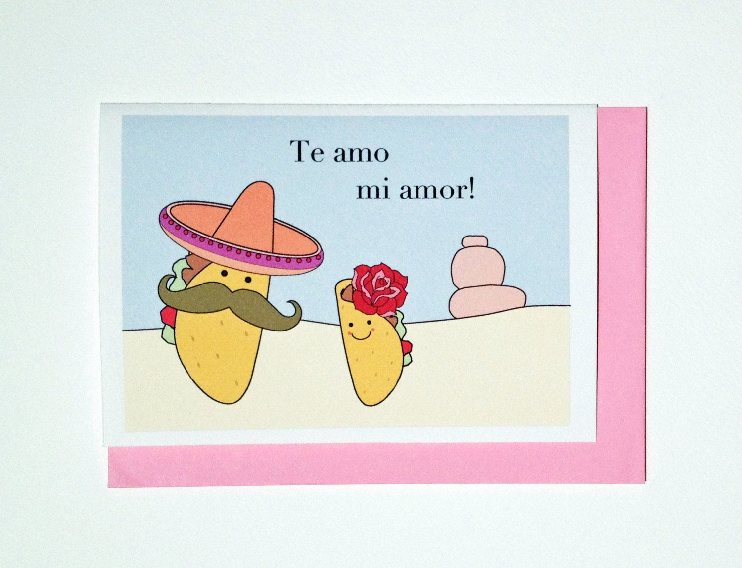 Funny Valentines Day Card  Te Amo 400 via Etsy  Cards