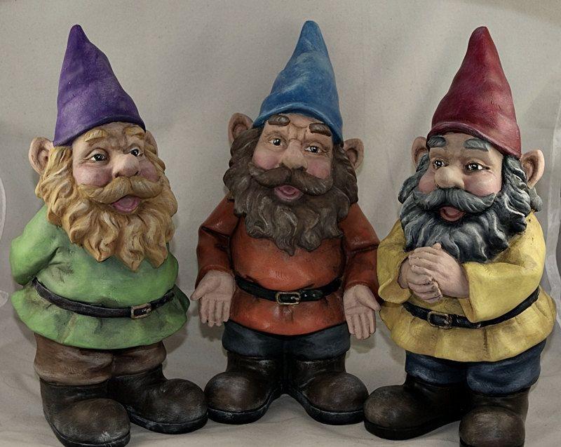 Hand Painted Garden Gnomes 10 Charity Donation 21 00 Via Etsy