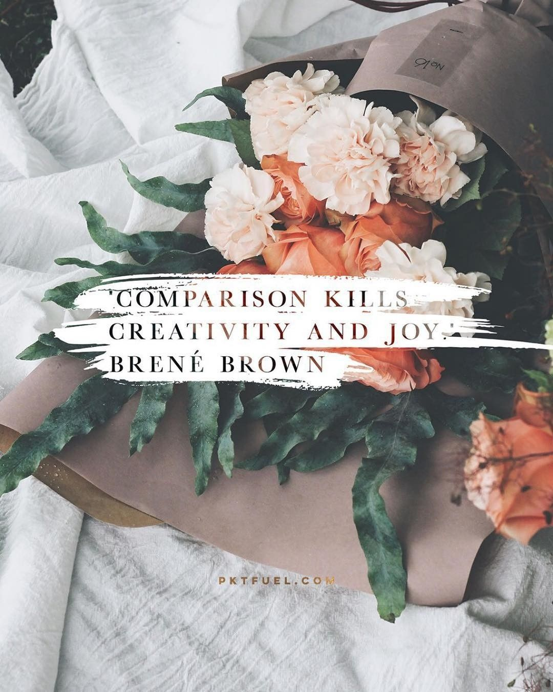 Comparison is the thief of Joy. Brene brown quotes, Cool