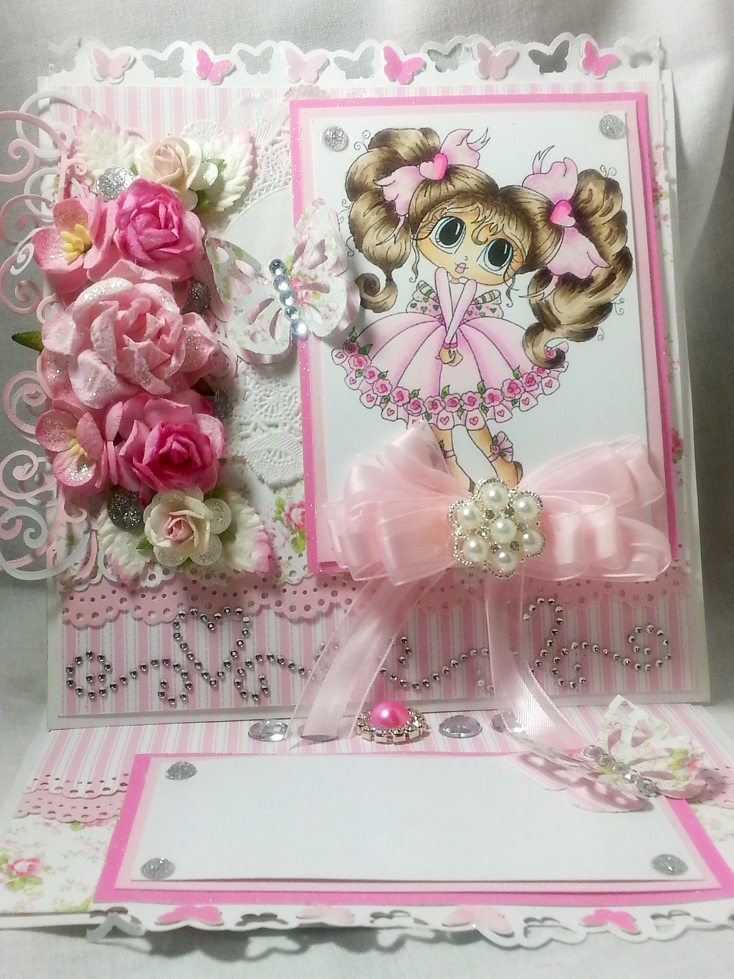 My besties by Sherri Baldy easel card made with First Edition Bella Rose papers