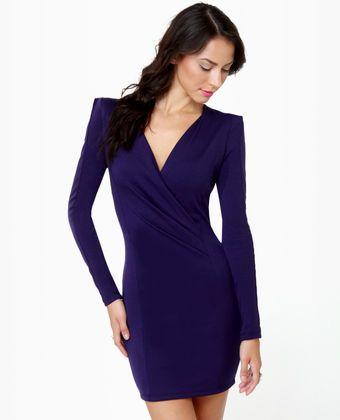 Foreign Film Navy Blue Dress $35