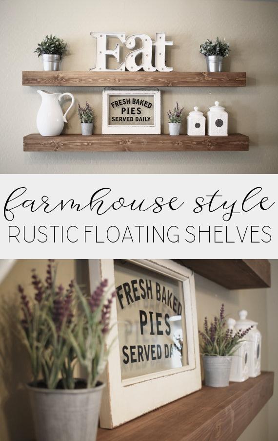 Rustic Floating Shelves Modern Farmhouse Floating Shelves Spring