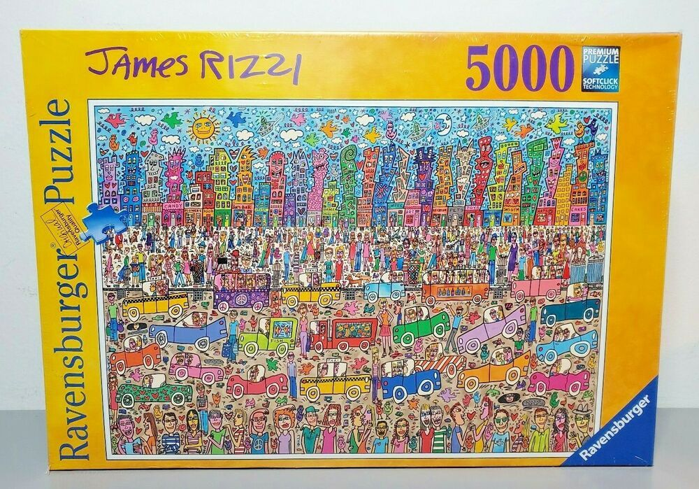 Ravensburger Puzzle James Rizzi City 5000 Pieces Discontinued