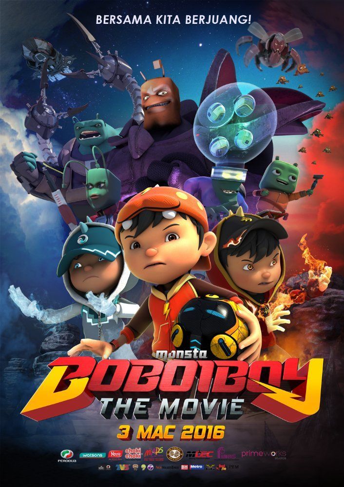 BoBoiBoy The Movie (2016) Film animasi, Film, Film baru