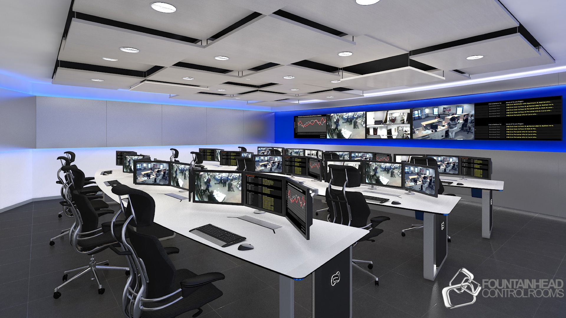 Command Center Furniture Design noc furniture design solution. noc control room design. 24/7/365