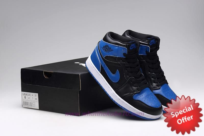 quality design 0638b 761d0 136066-041 Black Royal Blue AIR JORDAN 1 RETRO Mens