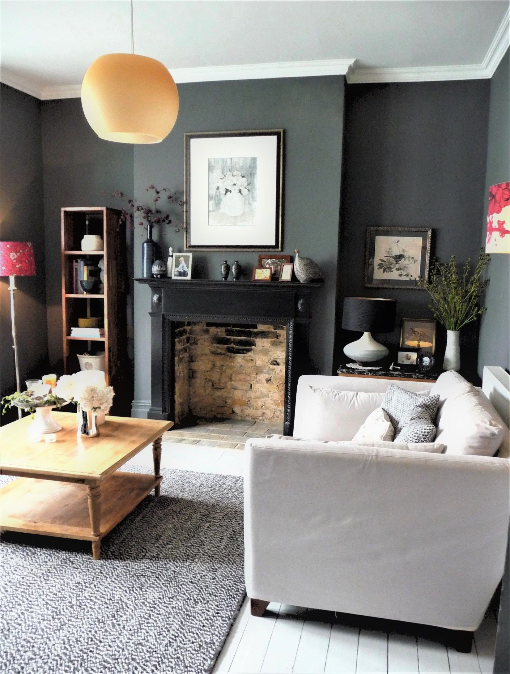 Decorating with dark colours grey lounge living room colors also new house ideas in rh pinterest